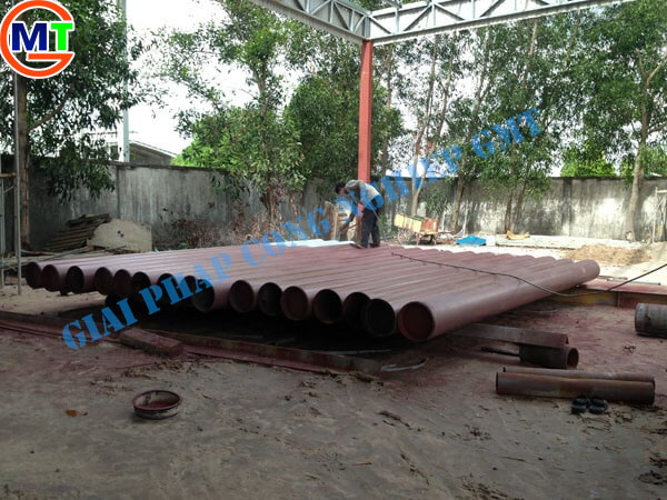 Gia công phun cát làm sạch đường ống